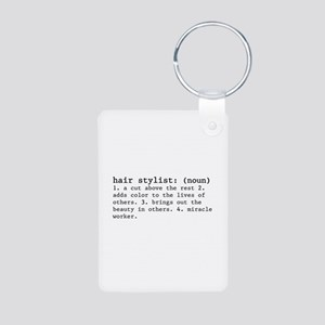 Hair Stylist Definition Aluminum Photo Keychains