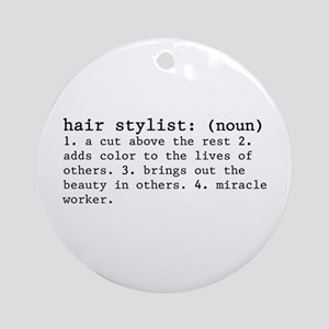 Hair Stylist Definition (round) Round Ornament