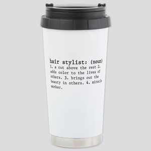 Hair Stylist Definition Stainless Steel Travel Mug