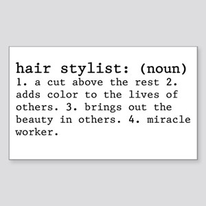 hair stylist definition Sticker (Rectangle)
