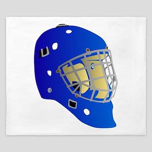 Blue Goalie Mask King Duvet