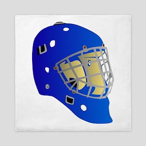 Blue Goalie Mask Queen Duvet
