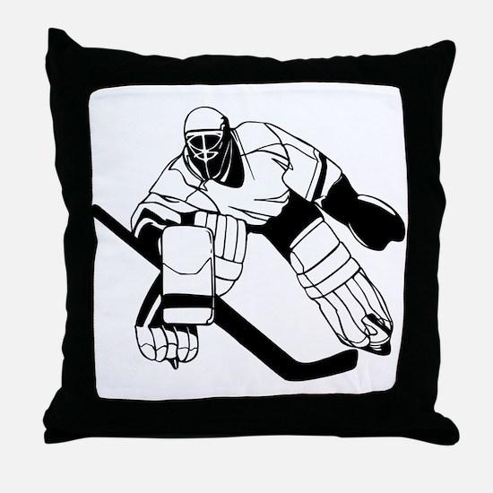 Ice Hockey Goalie Throw Pillow
