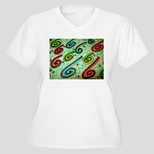 THE POWER OF SIX abstract design. Women's Plus Siz
