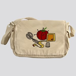 Sewing Supplies Messenger Bag