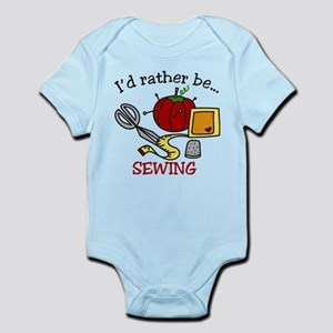 Rather Be Sewing Infant Bodysuit