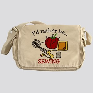 Rather Be Sewing Messenger Bag