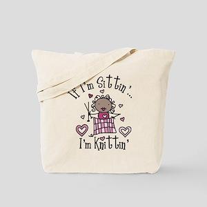 I'm Knittin' Tote Bag