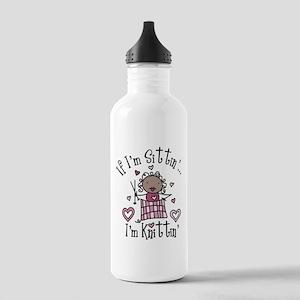 I'm Knittin' Stainless Water Bottle 1.0L