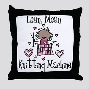 Knitting Machine Throw Pillow
