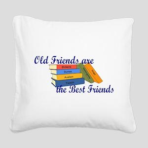 Books Best Friends Square Canvas Pillow