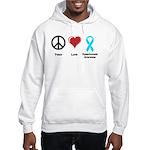 Peace, Love, Dysautonomia Awareness Hooded Sweatsh