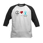Peace, Love, Dysautonomia Awareness Kids Baseball