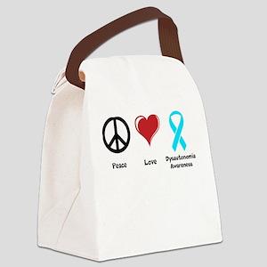Peace, Love, Dysautonomia Awareness Canvas Lunch B