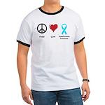 Peace, Love, Dysautonomia Awareness Ringer T