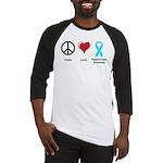 Peace, Love, Dysautonomia Awareness Baseball Jerse