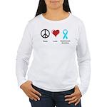 Peace, Love, Dysautonomia Awareness Women's Long S