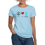 Peace, Love, Dysautonomia Awareness Women's Light