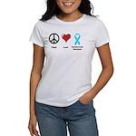 Peace, Love, Dysautonomia Awareness Women's T-Shir