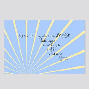 Psalms 118 24 Bible Verse Postcards (Package of 8)