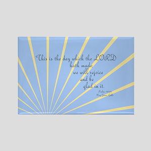 Psalms 118 24 Bible Verse Rectangle Magnet