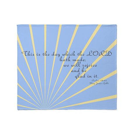 Psalms 118 24 Bible Verse Throw Blanket