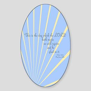 Psalms 118 Bible Verse Sticker (Oval)