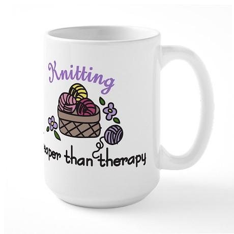 Cheaper Than Therapy Large Mug