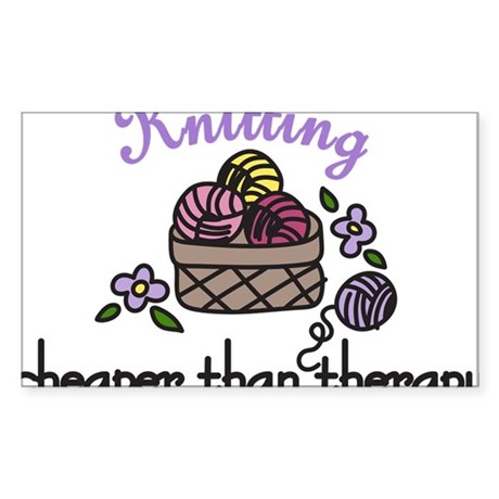 Cheaper Than Therapy Sticker (Rectangle)