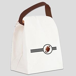 Football Three Stripes Canvas Lunch Bag