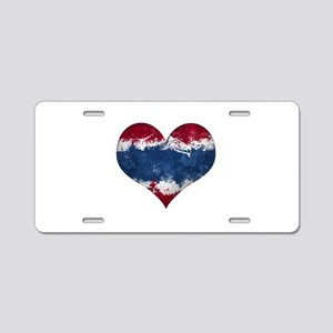 Thailand heart Aluminum License Plate