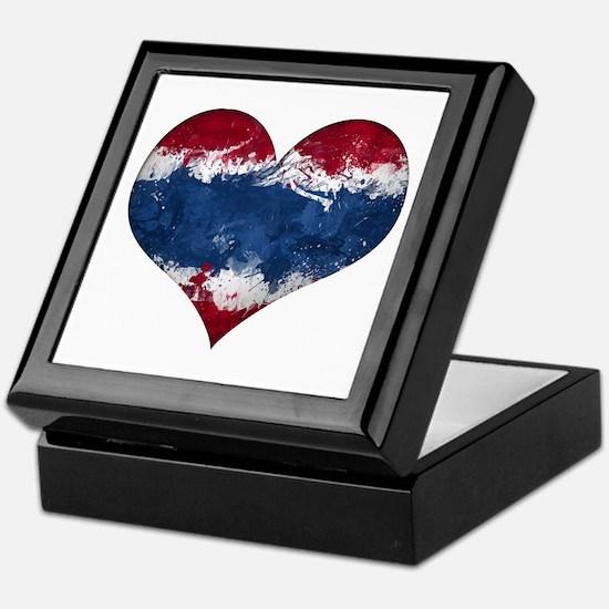 Thailand heart Keepsake Box