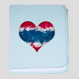 Thailand heart baby blanket