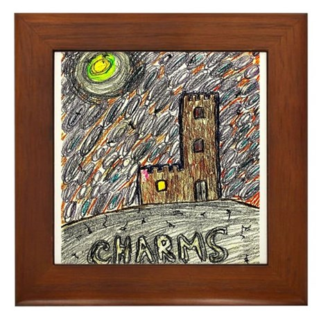 charms castle magical realm drawing in crayon Fram