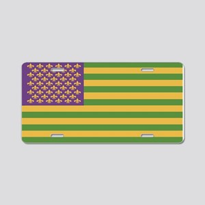 South Acadian Flag Aluminum License Plate