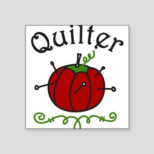 "Quilter Square Sticker 3"" x 3"""