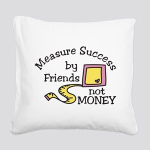 Measure Success Square Canvas Pillow