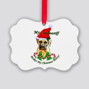 Bullmastiff Christmas Picture Ornament
