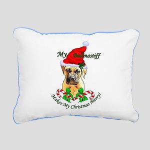 Bullmastiff Christmas Rectangular Canvas Pillow