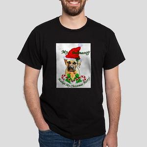 Bullmastiff Christmas Dark T-Shirt