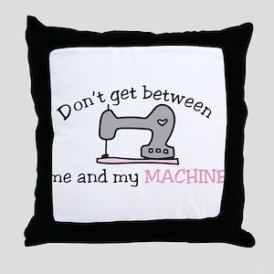 Don't Get Between Throw Pillow