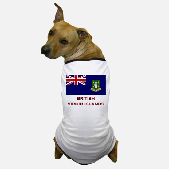 The British Virgin Islands Flag Merchandise Dog T-