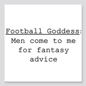"Football Goddess Definition Square Car Magnet 3"" x"