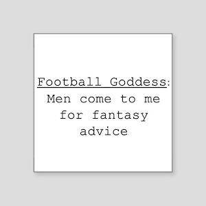 "Football Goddess Definition Square Sticker 3"" x 3"""