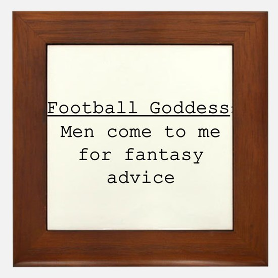 Football Goddess Definition Framed Tile
