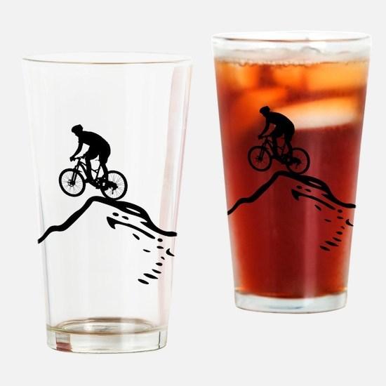 Unique Mountain bike Drinking Glass
