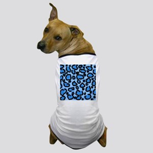 Blue Leopard Pattern. Dog T-Shirt