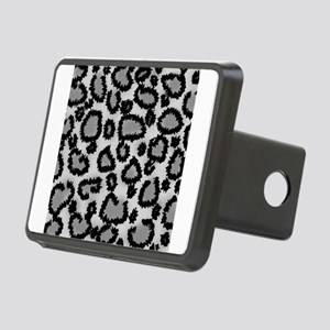 Gray Leopard Print. Rectangular Hitch Cover