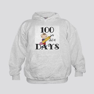 Stick Figure 100 Days Kids Hoodie