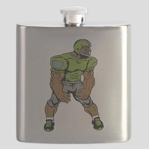 Cartoon Linebacker Flask